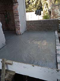 Rib & Block Floor slab extension